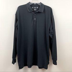 Nike Golf long sleeved polo- black